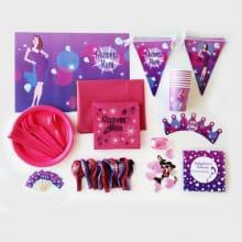 Tafelaankleding en versiering Glamour Pink
