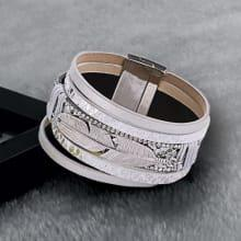 Brede zilveren armband